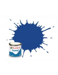 Humbrol - AA0271 - 25 Blue Matt - 14ml Enamel Paint  - Hobby Sector