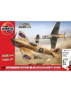 Airfix - Supermarine Spitfire MkVb Messerschmitt Bf109E Dogfight Doubles Gift Set
