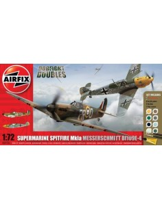 Supermarine Spitfire Mkla and Messerschmitt Bf109E-4 Dogfight Doubles Gift Set