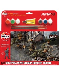 Multipose WWII German Infantry Figures Starter Set
