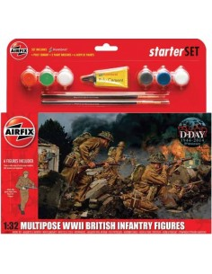 Multipose WWII British Infantry Figures Starter Set