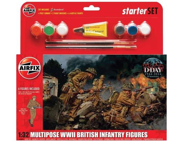 Multipose WWII British Infantry Figures Starter Set