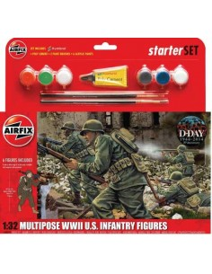 Multipose WWII US Infantry Figures Starter Set