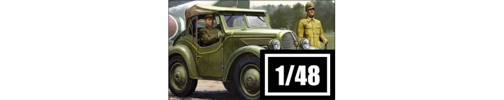 Kits de veículos militares à escala 1/48