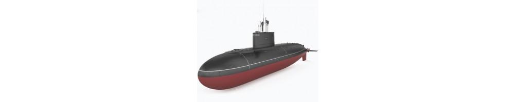 Kits de modelismo em plástico de submarinos