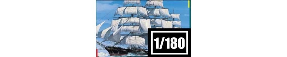 Kits de modelismo de barcos à escala 1/180