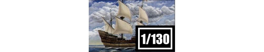 Kits de modelismo de barcos à escala 1/130