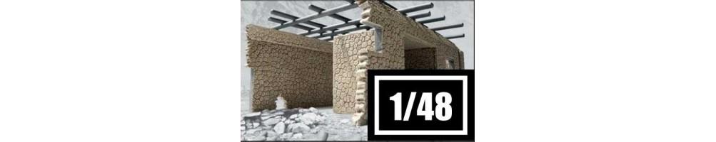 Kits de modelismo de edifícios e construções à escala 1/48