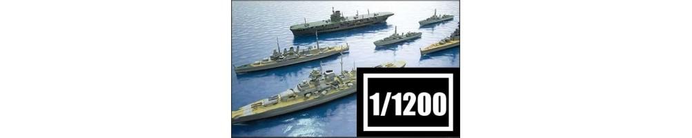 Kits de modelismo de barcos à escala 1/1200