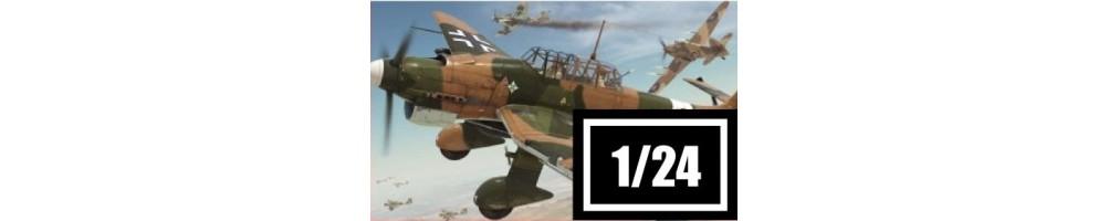 Kits de modelismo de aviões à escala 1/24