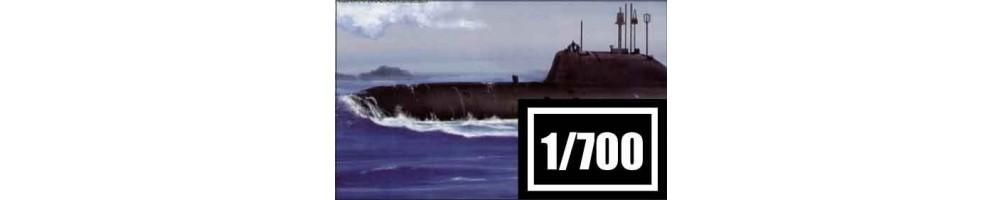 Kits de modelismo de submarinos à escala 1/700