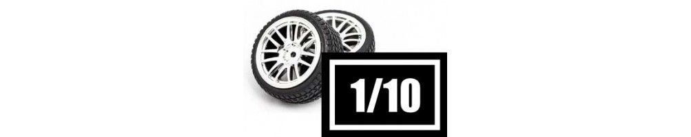 Tyres, wheels and inserts for 1/10 RC models