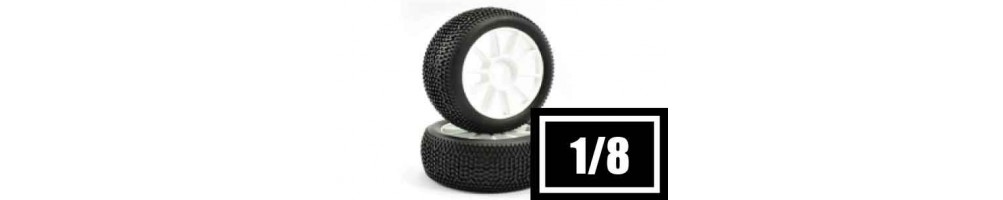 Tyres, wheels and inserts for 1/8 RC models