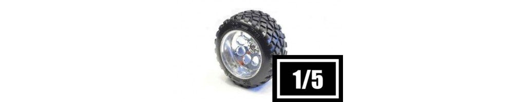Tyres, wheels and inserts for 1/5 RC models