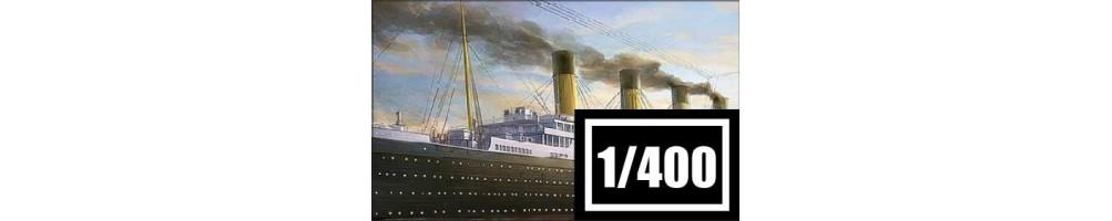 Kits de modelismo de barcos à escala 1/400.
