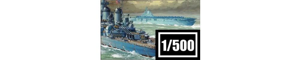 Kits de modelismo de barcos à escala 1/500.