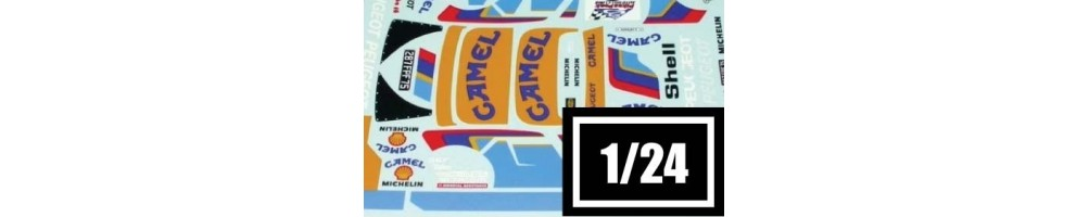 1/24 scale decals model kits