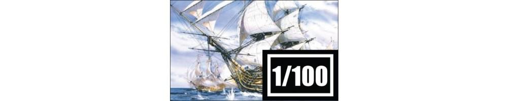 Kits de modelismo de Navios e Veleiros à escala 1/100