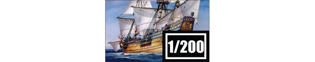 1/200 scale ships model kits