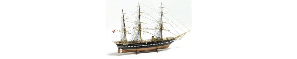 Kits de modelismo de barcos de madeira