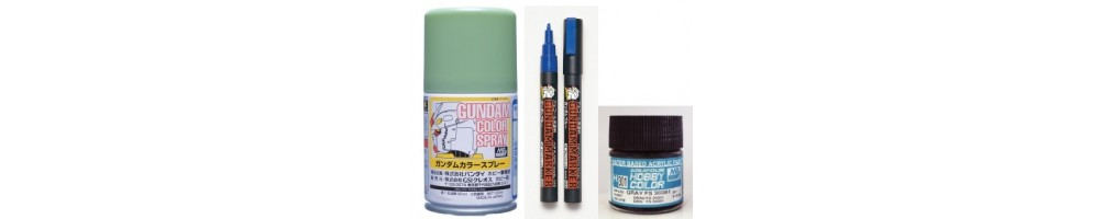 Paints and Accessories for plastic model kits.