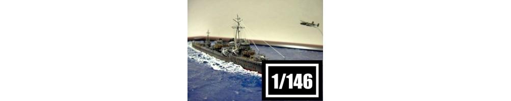 Kits de modelismo de barcos à escala 1/146