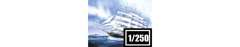 1/250 scale ships model kits