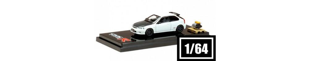 Miniaturas de carros de colecção diecast e resina à escala 1/64