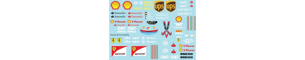 1/20 scale decals model kits