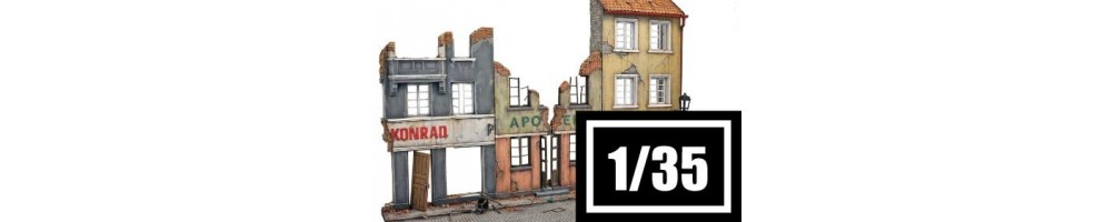 1/35 scale buildings and constructions model kits