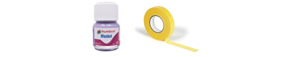Model kit Masking Tapes and Liquid Masks