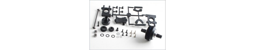 Diverse spare parts and upgrades for RC Cars models