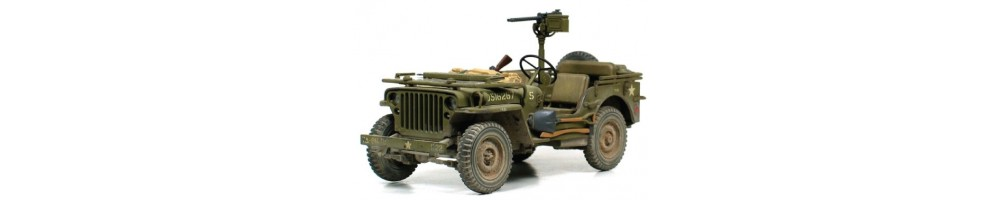 Military vehicles model kits